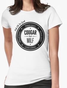Vintage Retro Cougar Hot Milf T-shirt Womens Fitted T-Shirt
