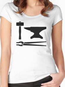 Blacksmith tools Women's Fitted Scoop T-Shirt