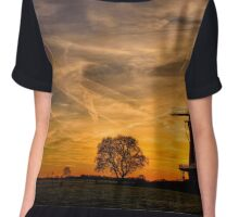 Dutch sky at sunset Chiffon Top