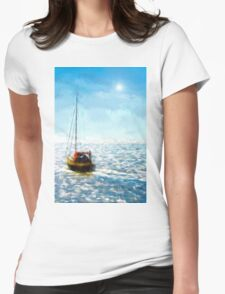Sea Salt Womens Fitted T-Shirt