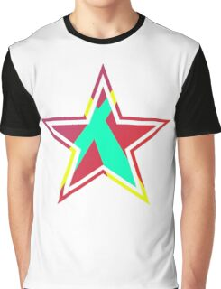 Striped Star [Red] Graphic T-Shirt