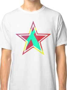 Striped Star [Red] Classic T-Shirt