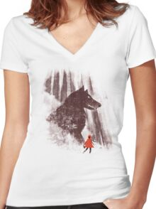 forest friendly Women's Fitted V-Neck T-Shirt