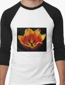 Special red and yellow tulip Men's Baseball ¾ T-Shirt