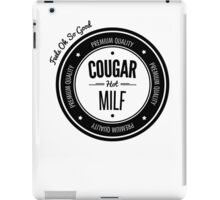 Vintage Retro Cougar Hot Milf T-shirt iPad Case/Skin