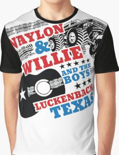 Waylon Willie and The Boys Luckenbach, Texas Graphic T-Shirt