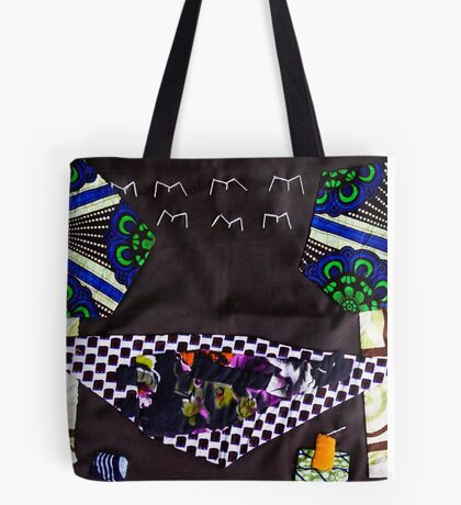 Afican chic collage plus  Tote Bag