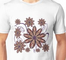 Faces in the Flowers in Purple Unisex T-Shirt