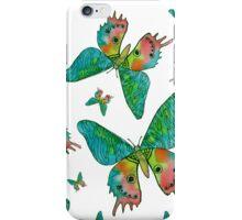 tropischen Aquarell Schmetterling iPhone Case/Skin