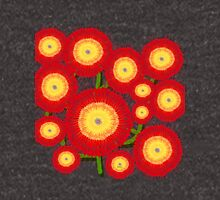 Red Flowers bloom in Mo's Garden Unisex T-Shirt