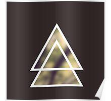triangles nature / triángulos naturaleza Poster