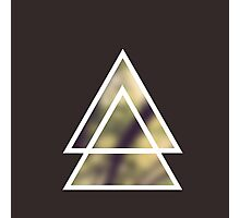triangles nature / triángulos naturaleza Photographic Print