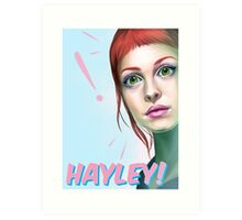 Hayley rocks! Art Print