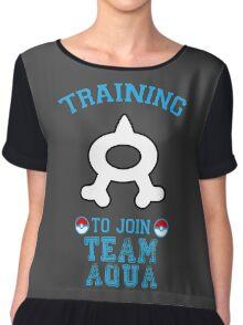 Training to join Team Aqua Chiffon Top