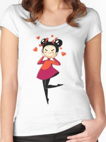 Pucca Women's Fitted Scoop T-Shirt