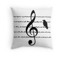 Misty Bird Treble Throw Pillow
