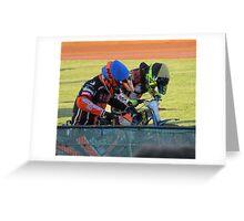 Riders at gates Greeting Card