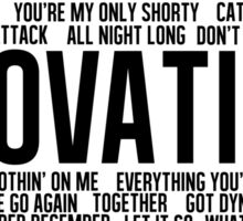Lovatic Songs Sticker