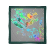 Paw Prints Minimalist Bright Colours Scarf