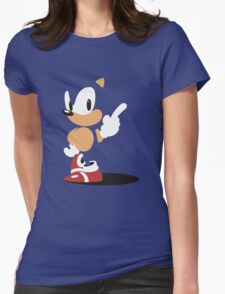 Minimal Hedgehog Womens Fitted T-Shirt