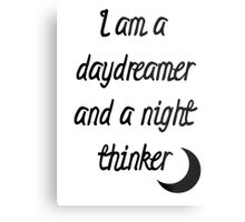 I am a daydreamer and a night thinker Metal Print
