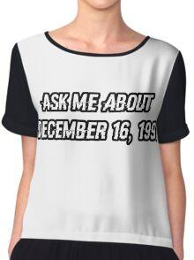 December 16, 1991 Chiffon Top