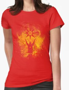 Praise The Sun Fire Womens Fitted T-Shirt