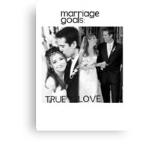 Alyson Hannigan & Alexis Denisof Marriage Goals Canvas Print