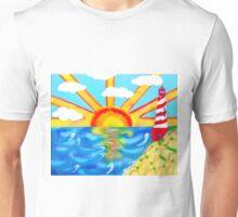 Lighthouse of the Sunrising Sunset Unisex T-Shirt