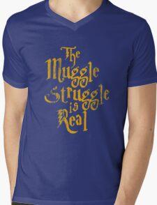 Harry Potter - Muggle Struggle Mens V-Neck T-Shirt