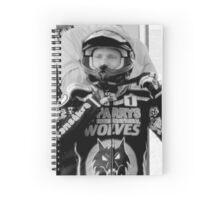 Freddie Lindgren helmet pose Spiral Notebook