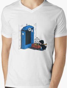 Harry Potter - Tardis Mens V-Neck T-Shirt