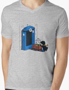 Harry Potter - Tardis Mens V-Neck T-Shirt