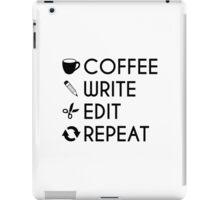 Coffee Write Save Repeat Writers Coffee Lovers Black Vector Design iPad Case/Skin