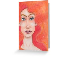 Red Haired Lady Greeting Card