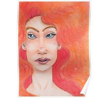 Red Haired Lady Poster