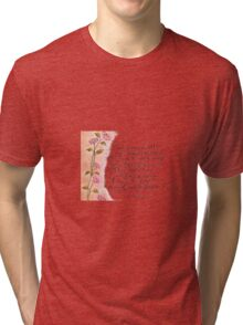 Mark Twain poem calligraphy art  Tri-blend T-Shirt