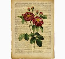 Botanical print, on old book page - flowers - roses T-Shirt