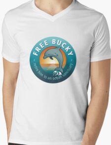 Free Bucky Mens V-Neck T-Shirt