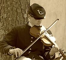 Civil War Fiddle Player by Susan S. Kline