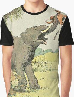 Elephant - French Alphabet Animals Graphic T-Shirt