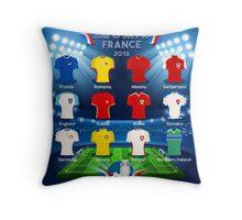 UEFA Qualified Teams EURO 2016  Throw Pillow