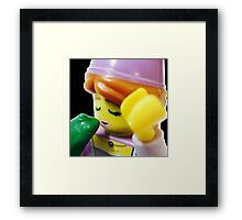 The Lego Princess and the Frog Framed Print