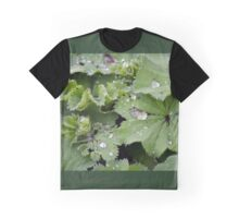 Captured Dew on Lady's Mantle Graphic T-Shirt