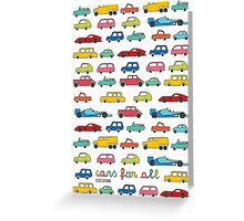 Cars for all Greeting Card