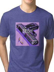 pistol and bullets Tri-blend T-Shirt