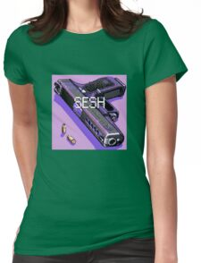 pistol and bullets Womens Fitted T-Shirt