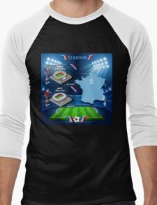 Paris Nice Stadium Infographics Men's Baseball ¾ T-Shirt