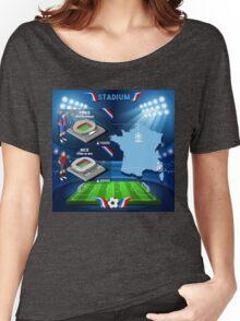 Paris Nice Stadium Infographics Women's Relaxed Fit T-Shirt