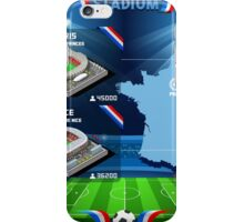 Paris Nice Stadium Infographics iPhone Case/Skin